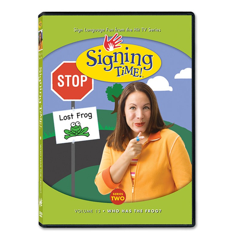 Series Two Vol. 13: Who Has the Frog? DVD : Signing Time : SigningTime.com